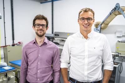 Echion Technologies co-founders: Jean de La Verpilliere, CEO (right) and Alex Groombridge, CTO (left) (PRNewsfoto/Echion Technologies)