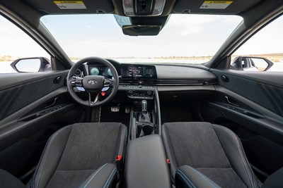 The 2022 ELANTRA N interior is photographed in California City, CA, on July 13, 2021.