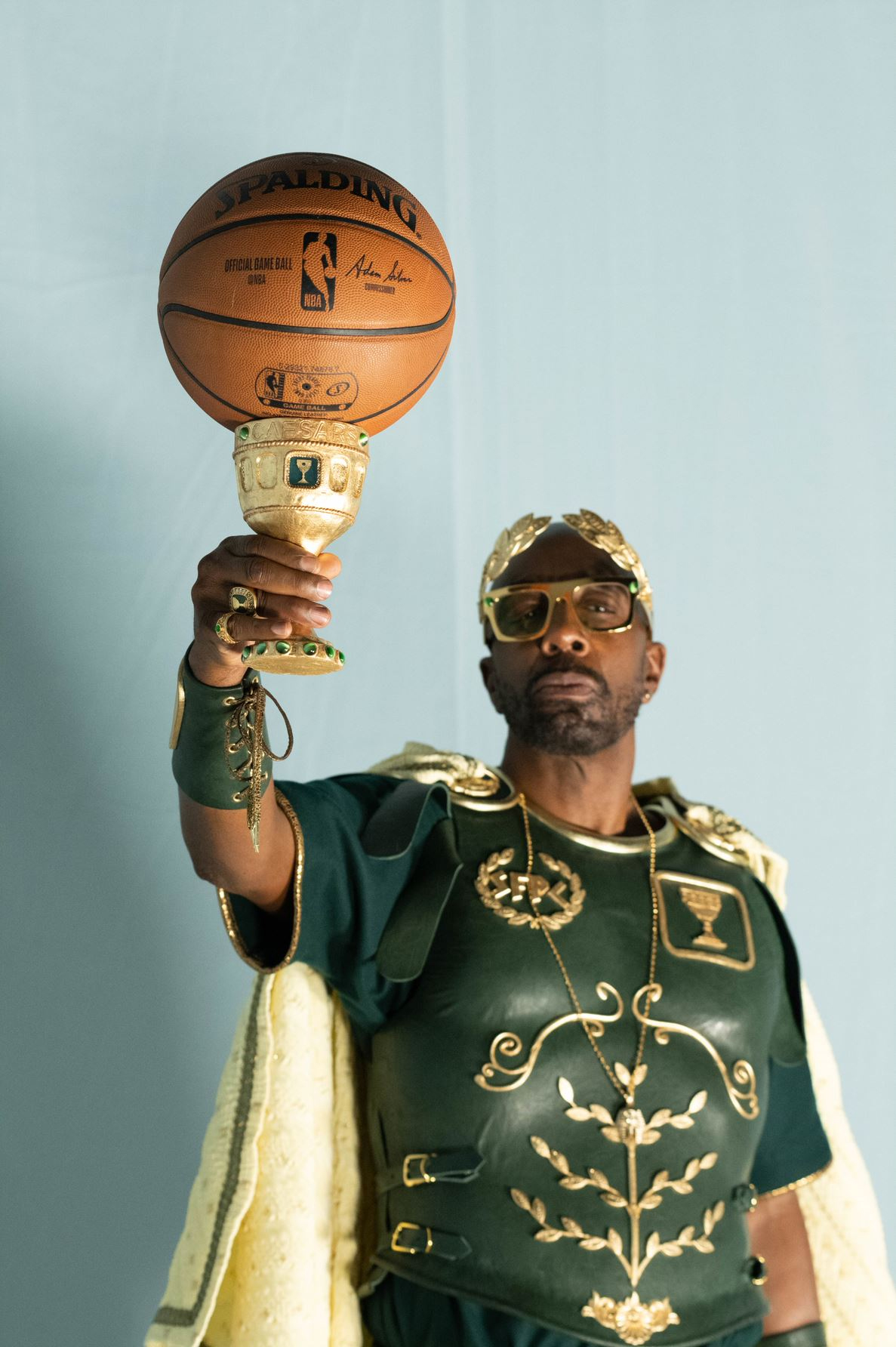 Caesar raises his goblet in a cheers to sports fans in the Caesars Sportsbook brand campaign.