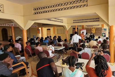 Those attending the seminar included Haitian National Police, Haitian Red Cross, firefighters, and local civic and community leaders.