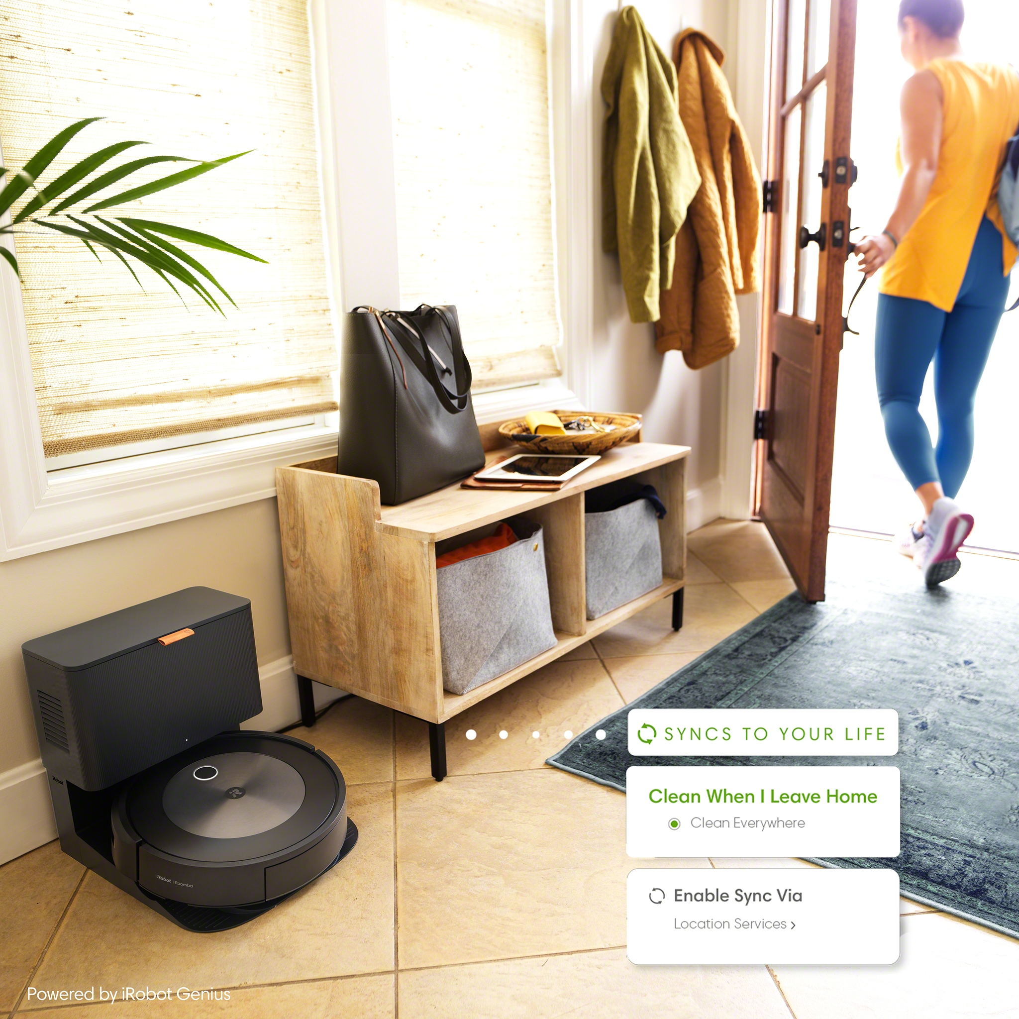 Using a phone's location services, users can now create a defined boundary around their home so that the robot starts cleaning automatically when they leave home and stop when they return.