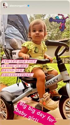 Alex Morgan posts about her daughter's brand new Bentley Trike