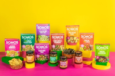 SOMOS creates plant-based, slow cooked Mexican foods that can be mixed and matched to prepare delicious meals like tacos, tostadas, nachos, or chilaquiles in ten minutes or less.