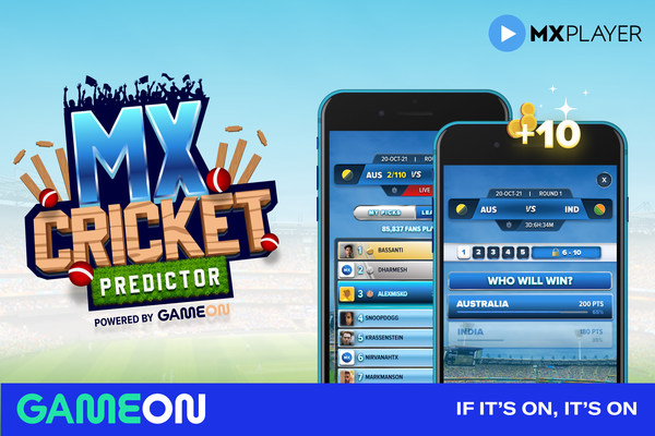 GameOn Launches Cricket Predictor Product With India's MX Player